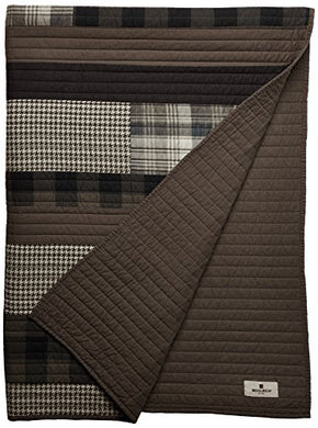Woolrich Wr50-1784 Winter Plains Quilted Throw, 50 X 70, Tan