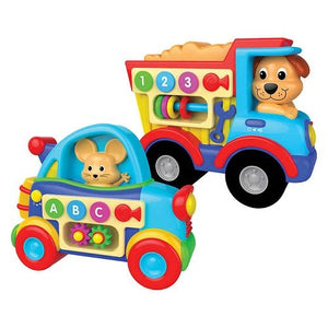 The Learning Journey Early Learning Abc Auto & 123 Truck Set Features Flashing Led Lights, 4 Fun Childrens Melodies And Low - High Volume Switch