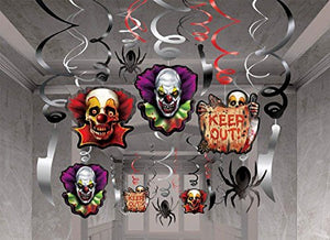Creepy Carnival Mega Value Pack Foil Swirl Decorations By Amscan
