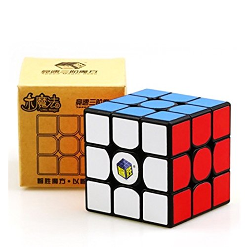 Cuberspeed Yuxin Little Magic 3X3 Black Speed Cube Yuxin 3X3X3 Magic Cube Puzzle