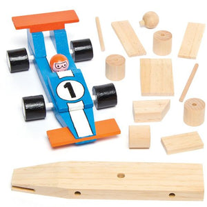 Wooden Racing Car Craft Kits For Children To Assemble Decorate And Give As Father'S Day Gift
