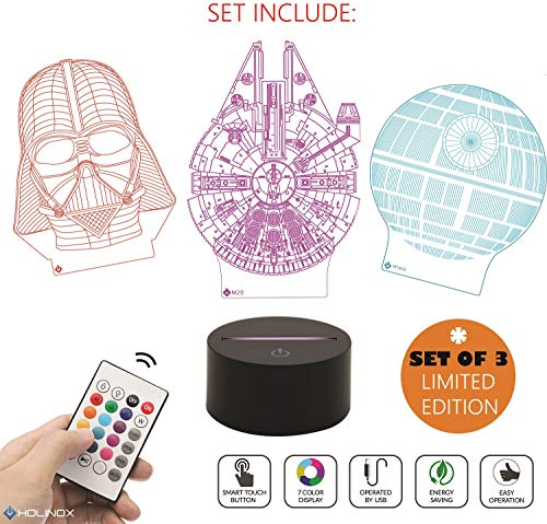 Starwars Gifts MT471 Holinox Star Wars Lamp Death Star 3D Light Awesome Gift for Star Wars Fans 75159