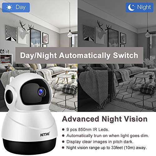 Wifi Ip Camera 1080P Wireless Security Camera Indoor Home Ip Camera Baby  Pet Monitor Indoor Dome Camera With Night Vision, 2-Way Audio, Motion