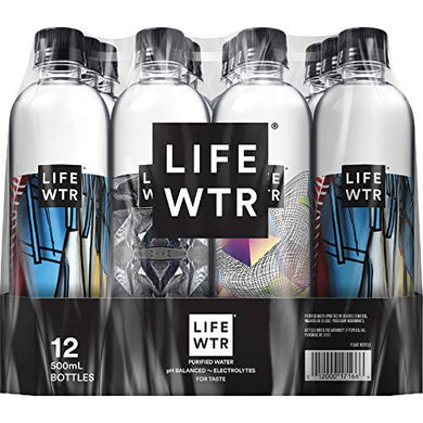 Lifewtr, Premium Purified Water, Ph Balanced With Electrolytes For Taste, 500 Mlbottles  (Packaging May Vary)