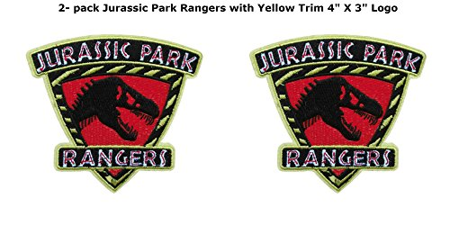 Blue Heron Jurassic Park Movie Ranger Shield  Embroidered Iron/Sew-On Applique Patches