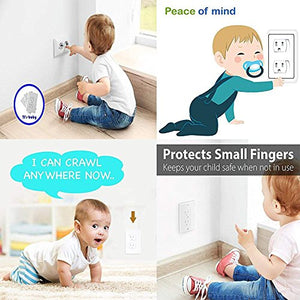 Baby Safety Power Outlet Wall Cover - Tamper Resistant Replacement Outlet Cover/Closing Wall Socket Plugs Plate Alternate For Child Proofing