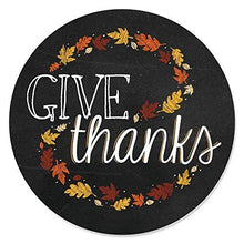Load image into Gallery viewer, Give Thanks - Thanksgiving Party Circle Sticker Labels - 24 Count