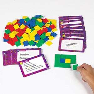 Eai Education Color Tile Fraction Puzzles: Area And Perimeter Gr. 4+