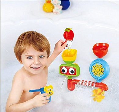Urtoys Lovely Portable Bath Tub Toy Water Sprinkler System With Sucker Bathroom Tub Children Kids Toy Gift Funny Bathing Toys