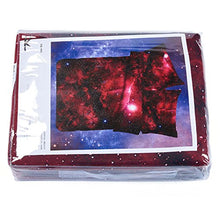 Load image into Gallery viewer, Alicemall Galaxy Bedding Queen Red Galaxy Fabric Polyester 4-Piece Bedroom Set, Duvet Cover, Flat Sheet And 2 Pillow Cases Outer Space Bedding Sets, No Comforter (Queen)