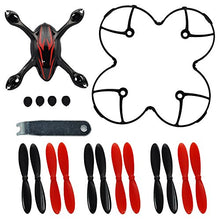 Load image into Gallery viewer, Hubsan X4 H107C Quadcopter Crash Pack Shell Blades Ruber Feet Propeller Propector And Wrench Set (Black And Red Color)