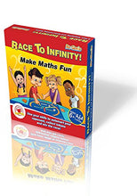 Load image into Gallery viewer, Race To Infinity - Math Board Game For Ages 6+ By Begenio 2-4 Players - Fun & Educational Family Game  Teach Your Child The Times Table & Practice Addition, Subtraction, Multiplication & Division