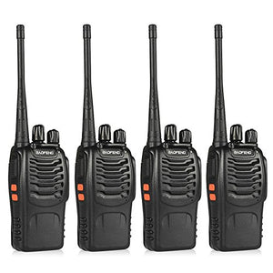 Baofeng Bf-888S Portable Handheld 2-Way Ham Radio With Original Earpieces + Baofeng Programming Cable (Support Win7,64 Bit) -Customize 4Pack Package