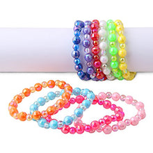 Load image into Gallery viewer, Plastic Iridescent Ab Colorful Bead Bracelets 10Pcs Per Pack Value Pack