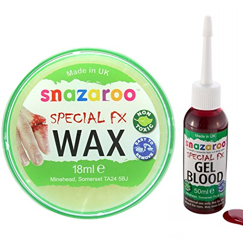 Water-Based Face & Body Make-Up Kit With A Snazaroo 18Ml Special Fx Wax And A 50Ml Bottle Of Dark Gel Blood