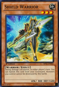 Yu-Gi-Oh! - Shield Warrior (Bp02-En066) - Battle Pack 2: War Of The Giants - 1St Edition - Common