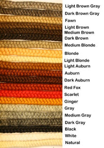 Crepe Wool Hair- Auburn Color For Doll Making Or Theatrical Uses (False Beard Or Mustache)
