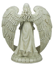 Load image into Gallery viewer, All Line Angel Flameless Candle Holder, Indoor/Outdoor Use, White, 14