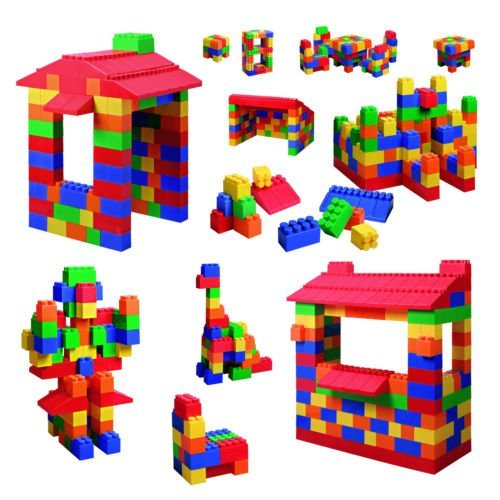 Grand Forward Mighty Big Blocks 100-Piece Multi-Colored Assorted Sizes Set For 3 Years And Up