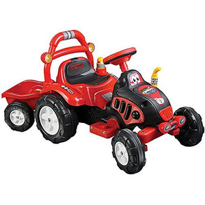 The King Tractor And Trailer Battery Operated Ride-On( 6V 4.5Ah )