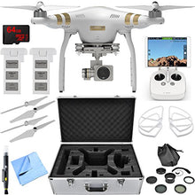 Load image into Gallery viewer, Dji Phantom 3 Pro Quadcopter Drone W/ 4K Camera Accessory Bundle Includes Drone, Flight Batteries, Propellers + Guards, Case, 37Mm Filter Kit, 64Gb Microsdxc Memory Card, Cleaning Pen And Cloth