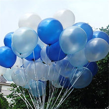 Load image into Gallery viewer, 100 Pcs 12''White&Blue&Light Blue Thickened Lustrous Pearlized Latex Balloons For Party Decoration