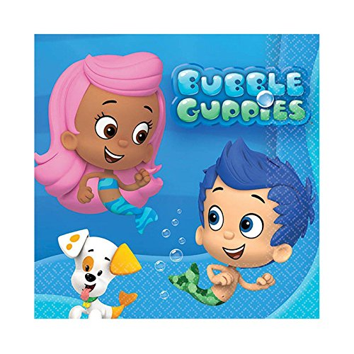 Bubble Guppies Beverage Napkins - 16 Count