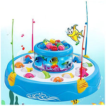 Load image into Gallery viewer, Stillcool Fishing Game With Double Fish Pool & 26 Fishes Magnetic Rotating Light And Music Christmas Toy Gifts