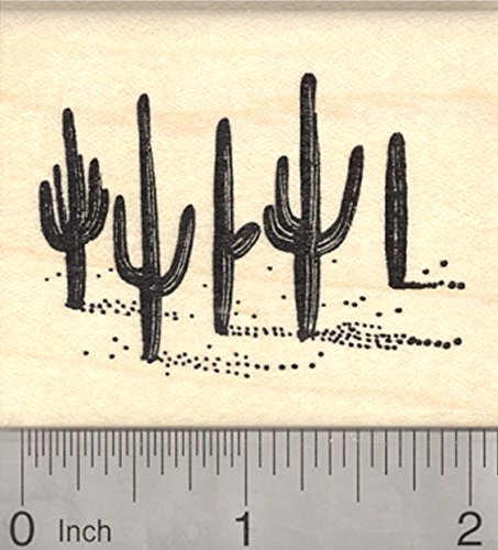 Saguaro Cactus Rubber Stamp, Sonoran Desert Arizona, Or Mexico Cacti