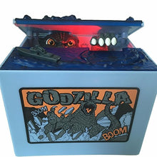 Load image into Gallery viewer, Alientech Godzilla Monster Dinosaur Moving Musical Electronic Chirldren Coin Bank Piggy Bank Money Saving Box