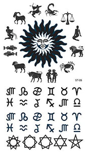 Supperb Temporary Tattoos - Zodiac