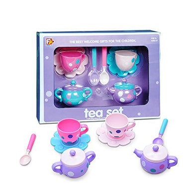 Wenasi 8 Pcs Pretend Kitchen Playset ,Tea Sets Toy For Kids Children' Tea Party (Random Color)