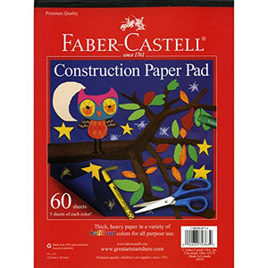 Faber-Castell 14553 Construction Paper Pad 9 X 12 Novelty