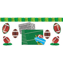 Load image into Gallery viewer, Football Frenzy Birthday Party Customizable Decorating Kit, Paper, 15 X 25