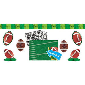 Football Frenzy Birthday Party Customizable Decorating Kit, Paper, 15 X 25