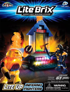 Cra-Z-Art Lite Brix Inferno Fighters Figures