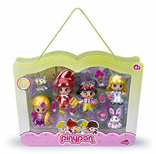 Load image into Gallery viewer, Pinypon Fairy Tale 4 Figure Set With 2 Pets And Accesories
