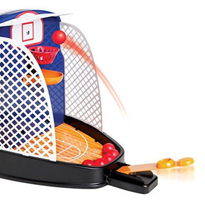 Portable Sharper Image Shootout Hoops Basketball Includes 12 Game Balls With Automatic Ball Return For Continuous Play