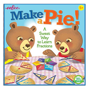 Eeboo Make A Pie Spinner Game, Learn Fractions