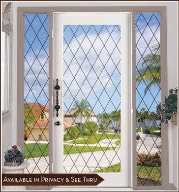 Orleans Black Leaded Glass See-Through Static Cling Window Film - 8 In X 78 In