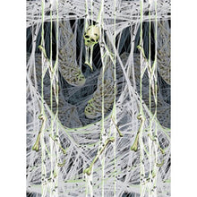 Load image into Gallery viewer, Amscan Spider'S Lair Halloween Trick Or Treat Party Zombie Scene Setter Room Roll (1 Piece), White, 48 X 40'