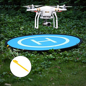 Cusfull Rc 75Cm Drone Quadcopter Launch Pad Helipad Helicopter Collapsible Mini Landing Pad For Mavic Pro Phantom 2 3 4 Inspire 1 Safe Protective Accessories