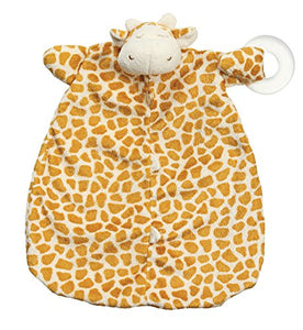 Angel Dear Baby Blankie And Teehter Blanket Gift Set, Brown Giraffe.