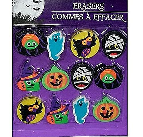 Halloween Themed Erasers Party Favors 12 Count