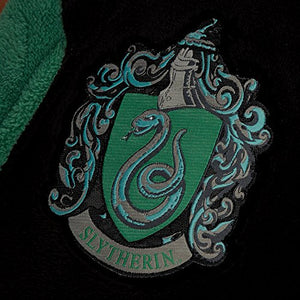 Official Harry Potter Hogwarts Slytherin Wizard Fleece Dressing Gown Bathrobe
