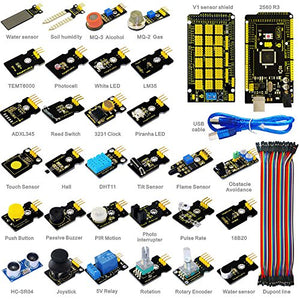 Keyestudio 30 Modules Starter Sensor Kit For Arduino Starter With Mega 2560 R3