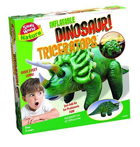 Small World Toys Nature - Inflatable Dinosaur! Triceratops Kit, 46