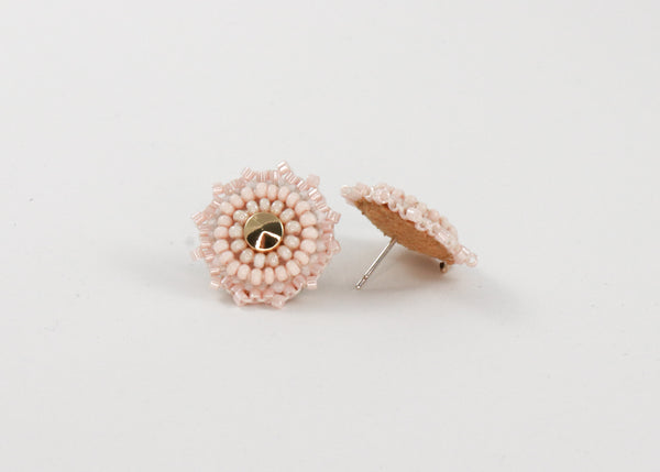 Soft Blush & Gold Studs