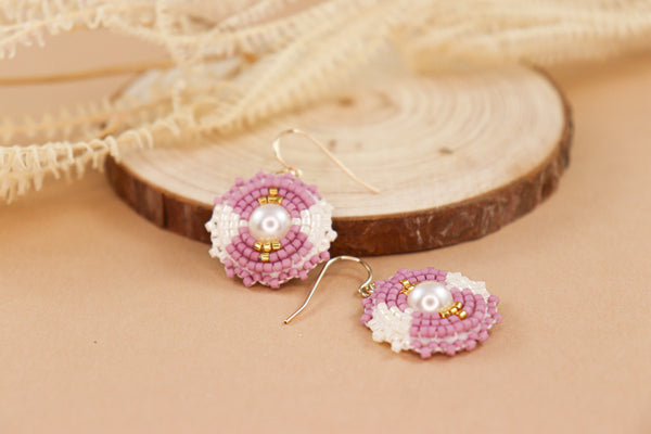 K&R Signature Drop Earring in Sea Pink
