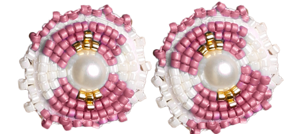 K&R Signature Stud in Sea Pink